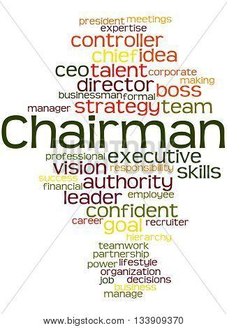 Chairman, Word Cloud Concept 5