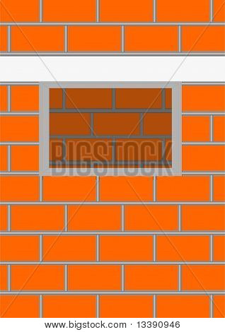 Opening a window in a brick wall.