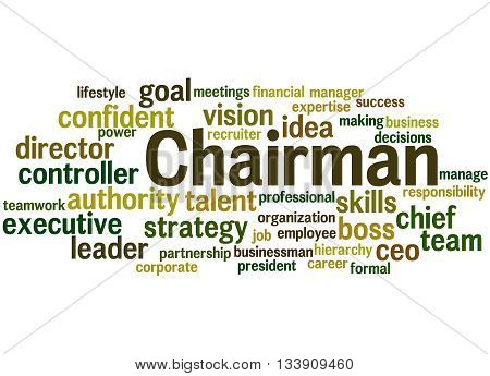 Chairman, Word Cloud Concept 7