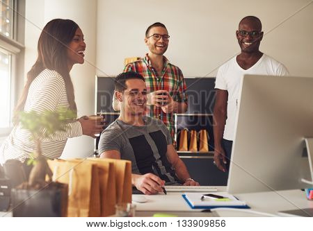 Group Of Happy Young Adults At Small Business