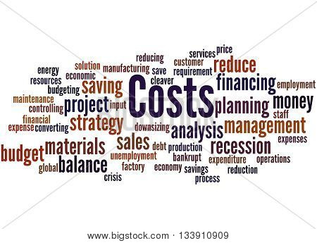 Costs, Word Cloud Concept 9