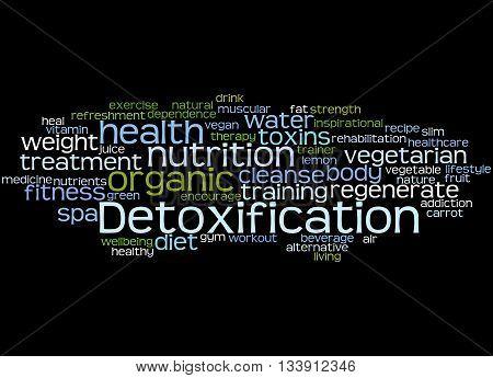 Detoxification, Word Cloud Concept 5