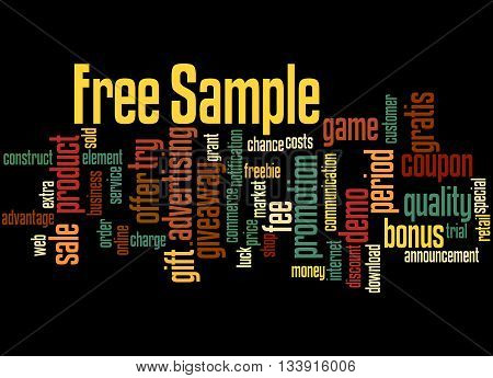 Free Sample, Word Cloud Concept 4