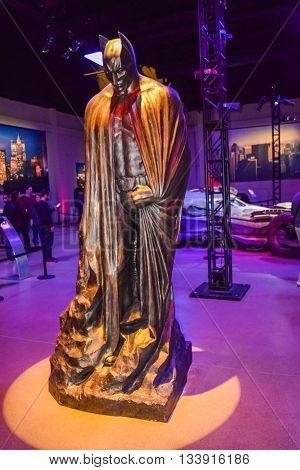 Los Angeles, CA, USA - January 11, 2016: Photo of Warner Bros inside views. Big Batman Statue