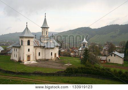 Orthodoxy romanian ancient monastery, Romania, Gura Humorului