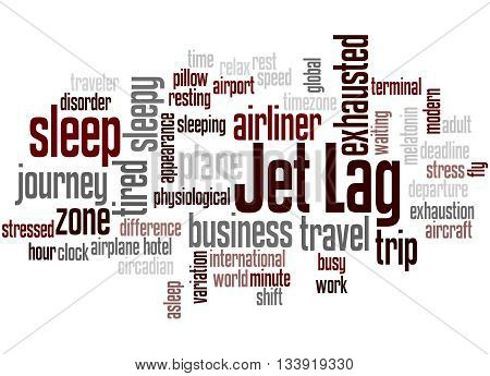 Jet Lag, Word Cloud Concept