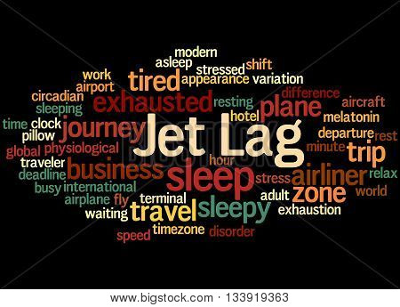 Jet Lag, Word Cloud Concept 2