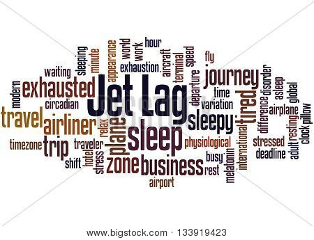 Jet Lag, Word Cloud Concept 5