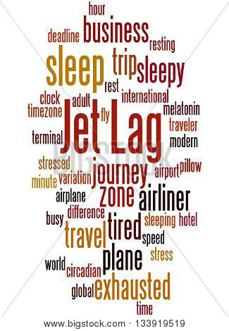 Jet Lag, Word Cloud Concept 9