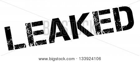 Leaked Black Rubber Stamp On White
