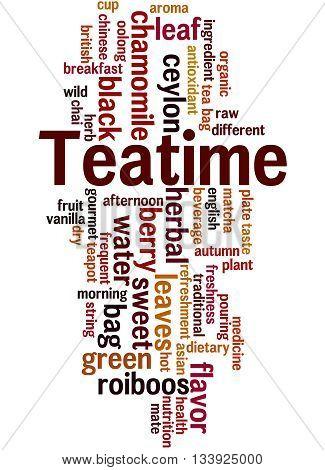 Teatime, Word Cloud Concept 9