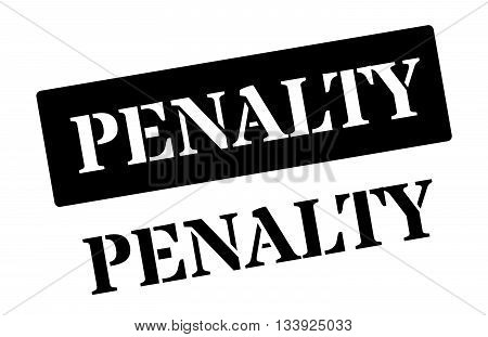 Penalty Black Rubber Stamp On White