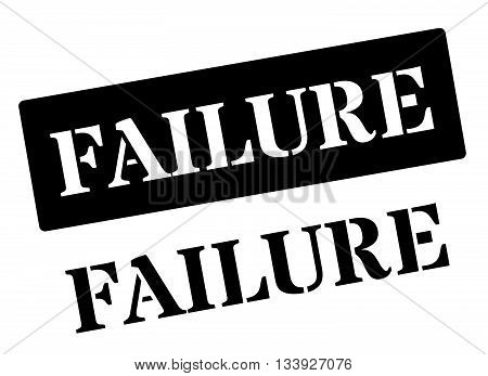 Failure Black Rubber Stamp On White