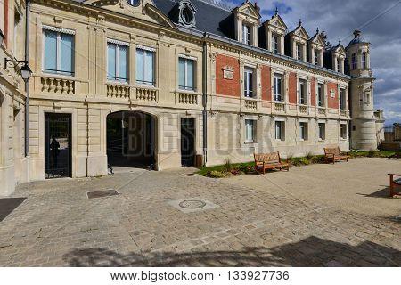 Conflans Sainte Honorine France - april 4 2016 : the Prieure castle