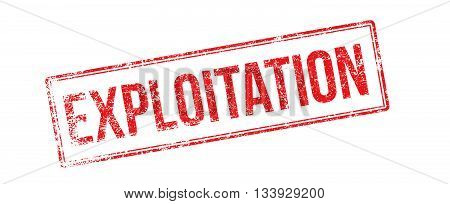Exploitation Red Rubber Stamp On White