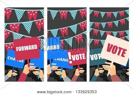 Election Campaign, Election Vote, Election Poster, Holding Posters, Election Banner, Supporting Team