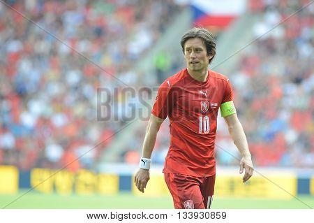 PRAGUE 05/06/2015 _ Tomas Rosicky, capitain of Czech Republic team. Friendly match Czech Reublic - South Korea