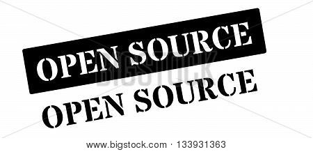 Open Source Black Rubber Stamp On White