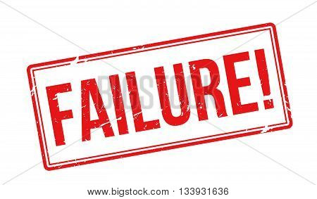 Failure Red Rubber Stamp On White