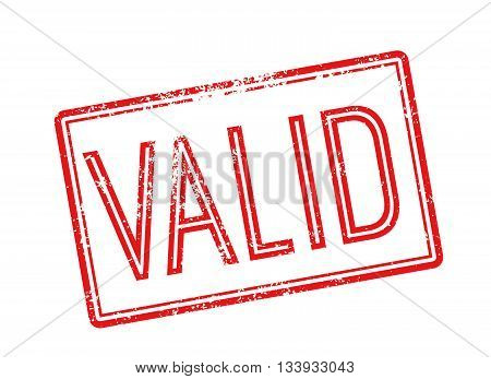 Valid Red Rubber Stamp On White