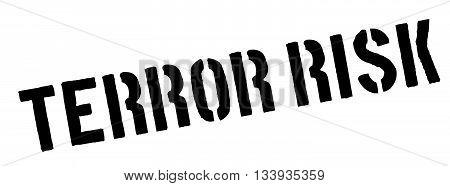 Terror Risk Black Rubber Stamp On White