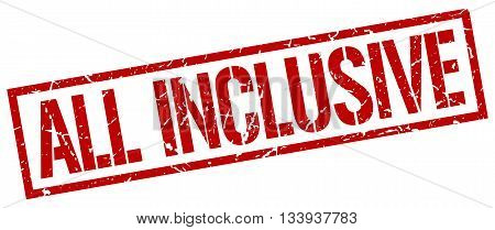 All Inclusive Stamp. Vector. Stamp. Sign. All.inclusive. Red.