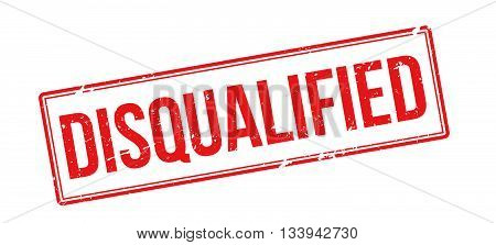 Disqualified Red Rubber Stamp On White