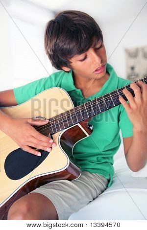 Boy With Acoustic Guitar