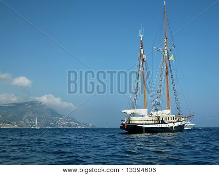 Luxury two mast sailboat