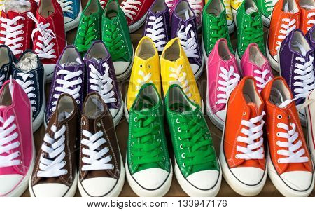 Bright color of Teens sneakers for casual wear
