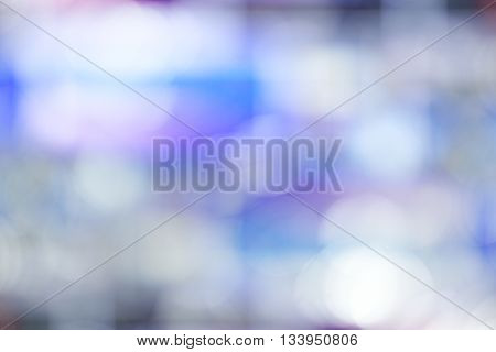 Blue color abstract blur bokeh background. Bokeh color background.