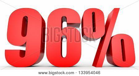 Discount 96 Percent Off. 3D Illustration.