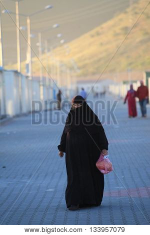 GAZIANTEP,TURKEY-APRIL 25:The refugees are placing to camps who escaped from Syria to Turkey. Two thousand Syrian refugees lives in refugee camps in Turkey on April 25, 2013, Gaziantep,Turkey.