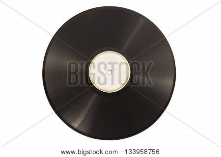 Old vinyl lp record isolated on white