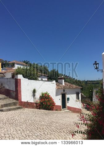 House in the town of Obidos, Portugal