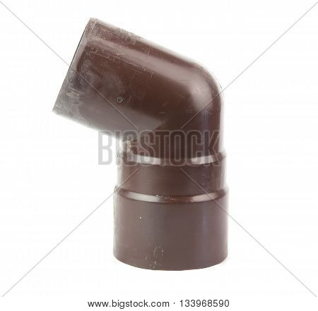 a rain water draining gutter downpipe isolated