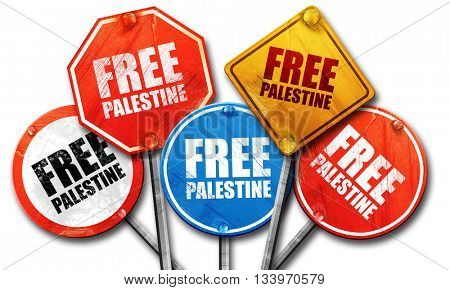 free palestine, 3D rendering, street signs