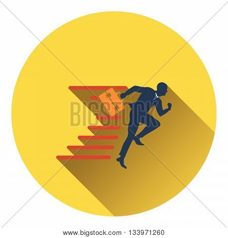 Icon Of Accelerating Businessman