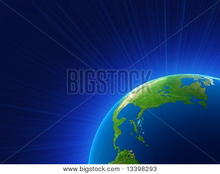 rendering of the planet earth
