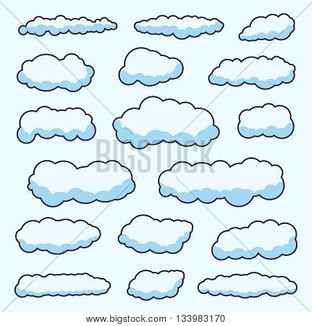 Clouds. Cloud vector. Cloud Icon Vector. Cloudy sky. Clouds blue sky. Cloud background. Clouds lightning