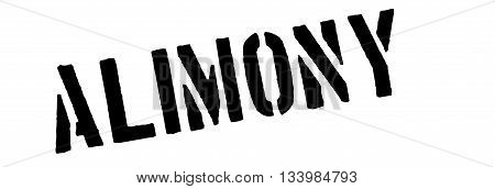Alimony Black Rubber Stamp On White