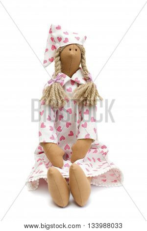 Slumber Party doll in pajamas on white