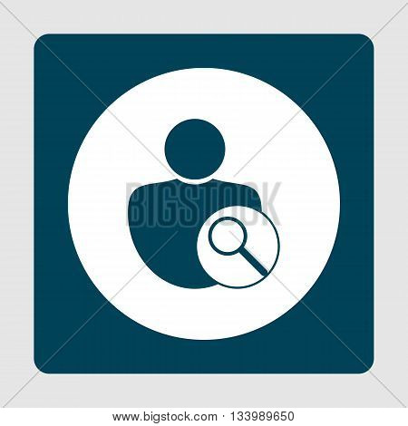 User Zoom Icon In Vector Format. Premium Quality User Zoom Symbol. Web Graphic User Zoom Sign On Blu