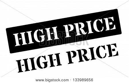 High Price Black Rubber Stamp On White