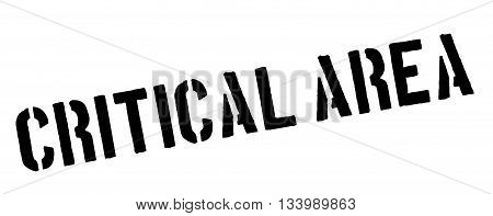 Critical Area Black Rubber Stamp On White