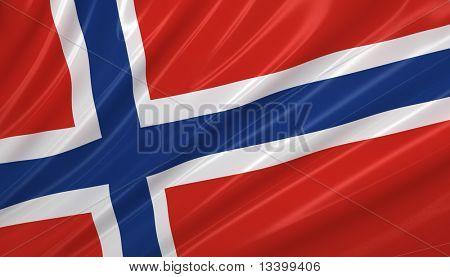 Flag of Norway. Flag series.