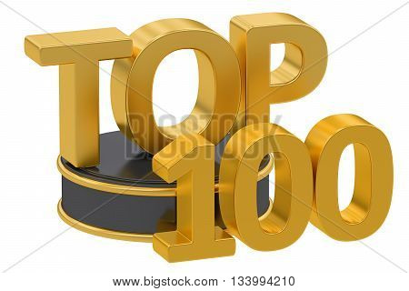 Top 100 3D rendering isolated on white background