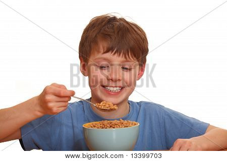 Boy and his breakfast