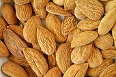 almonds texture background macro closeup studio shot poster