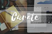 Imagine Create Curate Conceptualize Ideas Concept poster
